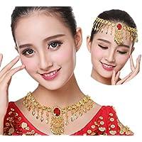 Hxfbyqrjh Gold Farbe Indien Bauchtanz Kopfschmuck Halskette Schmuck Tanz Schmuck preisvergleich bei fajdalomcsillapitas.eu