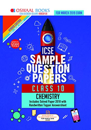 Oswaal ICSE Sample Question Papers Class 10 Chemistry (For March 2019 Exam)