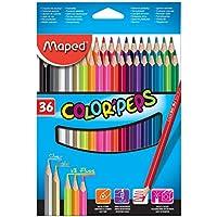 Maped Color'Peps Multi 36pc(s) colour pencil - colour pencils (36 pc(s), Multi, Wood, Multicolour, Triangular, 2.9 mm)