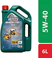 Castrol MAGNATEC SUV 5W-40 Full Synthetic Engine Oil for Petrol, CNG and Diesel SUVs (6L)