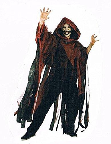 -Weinrot-Umhang-Kostüm-Halloween-für-Erwachsene-Maske-Zombi-Leiche-Kürbis-Gruseln-Scream-Blut-OneSize ()