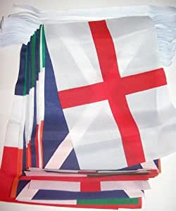 Rugby Six Nations pack comprend: (18 pieds Drapeau Bunting, Italie, France, Angleterre, Irlande, Ecosse et Pays de Galles Drapeaux Rugby Six Nations)