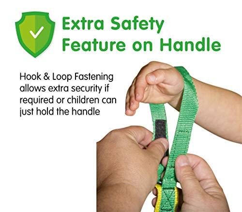 Grab & Go (für 4 Kinder) - Kinder Wandern Seil. Sicherheitsleine für Kinder. Premium Qualität mit kostenlosen Lernspielen für Spaziergänge Broschüre/Anleitung