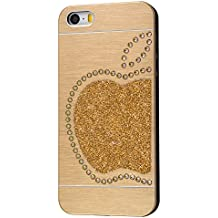 iShield SE Light Cases for iPhone ES,5,5S with Swarovski Elements, Modelo y Marca: iShield 5 light Case Rey Dorada (Oro)