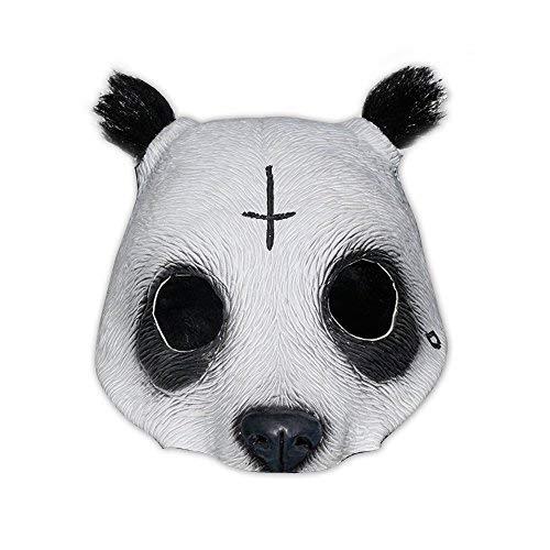 Originalgetreue Panda Latex-Maske in (Weiße Rapper Maske)