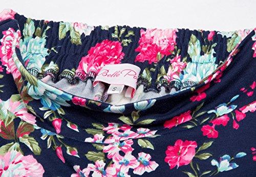 Damen A-linien Roecke Elegant Faltenrock Knielang Vintage Farbe1