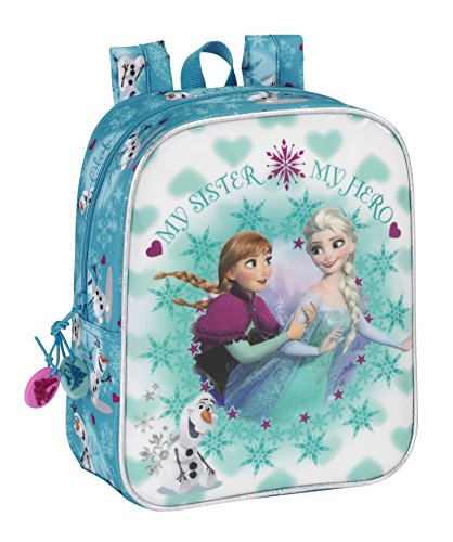 Official Disney Frozen Anna and Elsa Rushsack | Lunch Bag | Shoulder Bag | School Bag For Girls (Mini Rucksack Design 2)