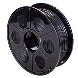 MERITON 3D Drucker Filament PLA 1.75mm 1kg mit Spule Rolle (Schwarz)