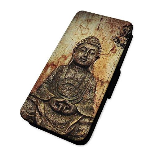 Klappetui/Fliphülle für Handys, Motiv: antike, spirituelle Buddha-Statue, Glücksbringer, Telefonschutzhülle mit Kartensteckplätzen Huawei P10 Lite