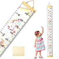 Children Growth Chart,SEELOK Unicorn Kids Height Ruler Removable Wall Hanging Measurement for Nursery Bedroom Decoration Kindergarten