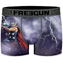 FREEGUN Bóxer para Hombre Marvel Avengers Thor (XL, Thor )