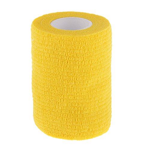 75cm-bandage-gaze-pansement-auto-adhsif-ruban-soins-de-la-cheville-jaune