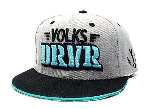 VOLKS DRVR Snapback Cap bedruckter Schirm & 3D Stick Dub Spencer - DUB