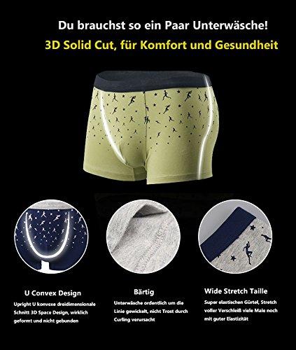VENI MASEE® Sexy Modal Atmungsaktive Herren Boxer Shorts Unterwäsche Trunks Mehrfarbig06