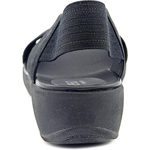 Easy Spirit e360 Wiley Damen Offener Spitze Textile Slingback Sandale Black