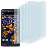 6 x mumbi Schutzfolie Samsung Galaxy Note 4 Folie Displayschutzfolie (bewusst kleiner als das Display, da dieses gewölbt ist)