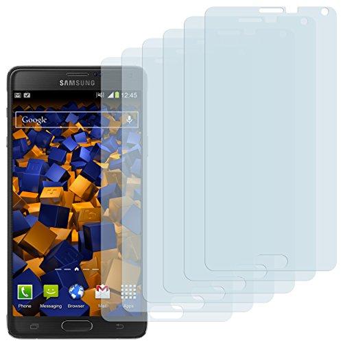 mumbi Schutzfolie kompatibel mit Samsung Galaxy Note 4 Folie klar, Bildschirmschutzfolie (6x)