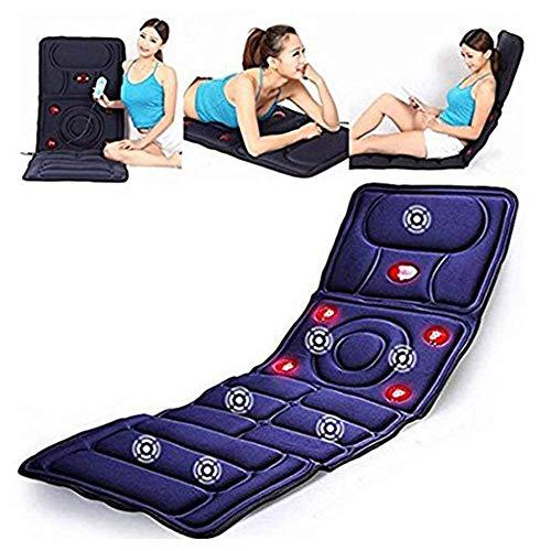 10 Motor-massage-matte (Faltbarer Ganzkörper-Massagegerät, 10-Motor-Massage-Matte + 5 Massage-Modi, Infrarot-Heizung, Massagen Oberen Und Unteren Rücken, Hüften, Lendenbereich Und Beine)