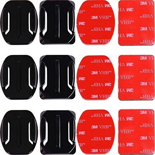 adhesive-mounts-for-gopro-cameras-3x-curved-3x-flat-mounts-bundle-w-3m-sticky-pads-tape-mount-to-you
