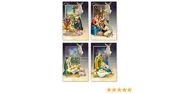 Amazon.de: Weihnachtskarten mit Erzengel und Heilier Familie im ...