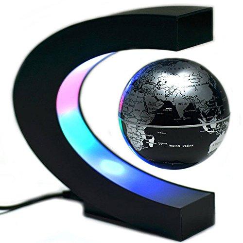 Tenlacum C Forme Levitation Flottant Globe Rotating magnétique Carte du  Monde coloré Lampe LED Cadeau décoration 6eeaae490da7