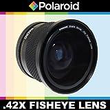 Objectif fisheye haute définition.42x de Polaroid Studio Series avec fixation macro, inclut une housse d'objectif et les couvercles d'objectifs pour l'Nikon D40, D40x, D50, D60, D70, D80, D90, D100, D200, D300, D3, D3S, D700, D3000, D5000, D3100, D3200, D7000, D5100, D4, D800, D800E, D600 Reflex numériquess Qui ont la Nikon (105mm, 20mm, 85mm) lentille