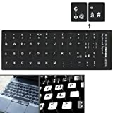 Italian Learning Keyboard Layout Sticker tasti neri adesivi per computer