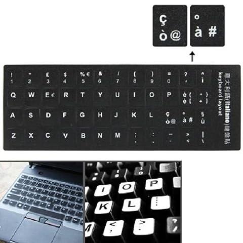 Autocollants noirs pour touches de clavier d'ordinateur - apprentissage de la disposition des touches pour (Di Tasti)