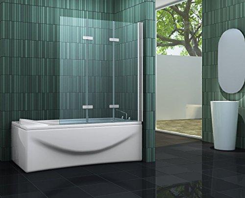 faltbare duschwand fuer badewanne Duschtrennwand VARIO (Badewanne)