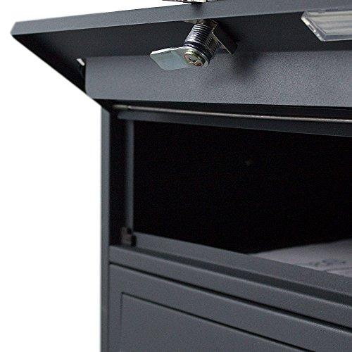 BITUXX® Stand-Briefkastenanlage Postkasten Letterbox Mailbox Doppelt mit 8 Fächer Dunkelgrau Anthrazit - 3