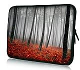 Luxburg design housse sacoche pochette pour ordinateur portable 15,6 pouces, motif: Forêt d'automne