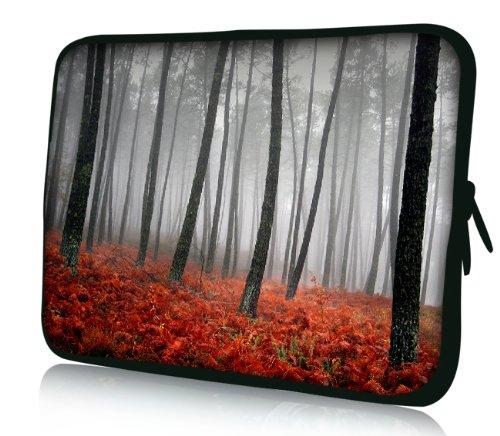 Luxburg® Design Laptoptasche Notebooktasche Sleeve für 17,3 Zoll (auch in 10,2 Zoll | 12,1 Zoll | 13,3 Zoll | 14,2 Zoll | 15,6 Zoll | 17,3 Zoll) , Motiv: herbstlicher Wald
