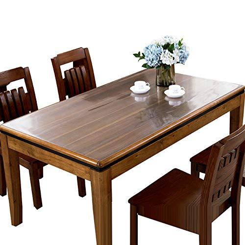 Bove tovaglia protettiva per tavolo in pvc trasparente, telo in plastica trasparente lavabile tavolo impermeabile stuoia da resistenza antimacchia rughe-1.5mm-70x130cm(28x51pollice)