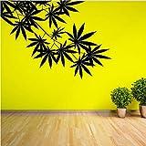 Unkraut Baum Blatt Ahorn Hanf Blätter Vinyl Pflanze Wandaufkleber Für Kinderzimmer Wandkunst Aufkleber Wandbild Für Wohnzimmer Wohnkultur