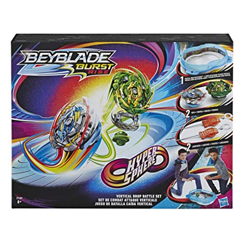 Beyblade Burst Original Rise Hypersphere Vertical Drop Battle Set - Komplettes Set mit Beystadium-Arena, 2 Battle Kreisel Spielzeugen und 2 Startern