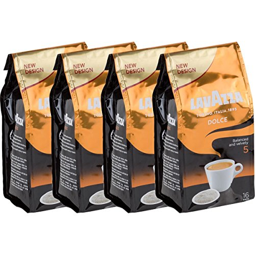 4x Lavazza Dolce Kaffeepads - Weich und Mild - für alle Padmaschinen