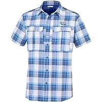 Columbia Triple Canyon Camisa de Manga Larga Hombre, Azul (Super Blue, Carbon Plaid) L amazon azul Primavera/Verano