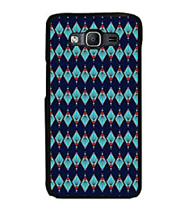 Fiobs High Glossy Designer Phone Back Case Cover Samsung Galaxy J5 (2015) :: Samsung Galaxy J5 Duos (2015 Model) :: Samsung Galaxy J5 J500F :: Samsung Galaxy J5 J500Fn J500G J500Y J500M ( Blue Pattern Design )