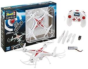 Revell Control RC Quadcopter para Principiantes, brigamo 068-con 2, 4GHz Control Remoto, 480p Cámara-Quadcopter Go. Vídeo-Conejos