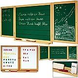 Tableau double sens pour enfants - Grand tableau à craie et magnétique mural - avec lettres