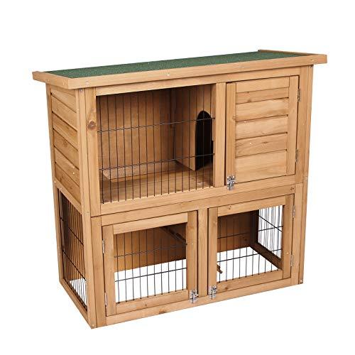 Elightry conigliera da giardino gabbia per roditore nido per conigli criceto cagnolino in legno di abete ydtl0001
