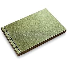 Zhi Jin especial Retro cuaderno diario bloc de notas, diario de fieltro regalo viaje 120hojas verde, color Kraft Blank Paper