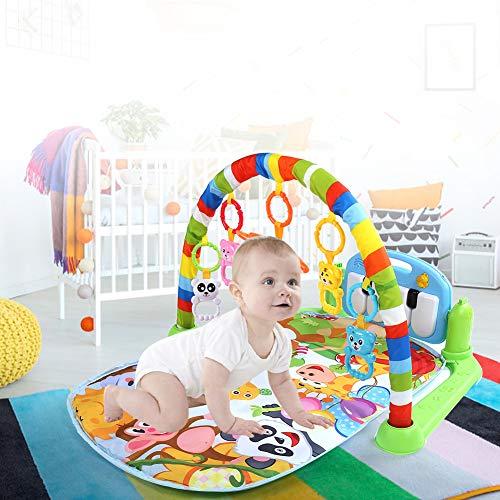 Manta Actividades para Bebes Gimnasio para Bebes Multifuncional Manta de Juegos para Bebes para Bebés Mayores de 3 Meses 75 x 63 x 45cm
