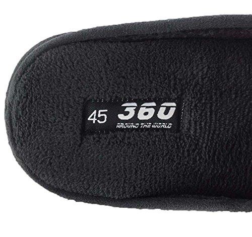 360 Around The World, Pantofole uomo 47 Grau