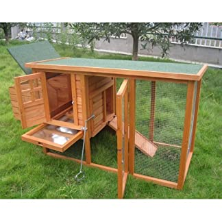 BUNNY BUSINESS Mini Shack New Chicken Hen House Coop Poultry Ark Run Rabbit Hutch with Deluxe Cover 51bCJ9KkUWL