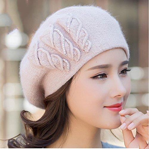 Automne et Hiver Chapeau Femmes Bérets faits à la main Mode Tricot ( couleur : # 3 ) 7#