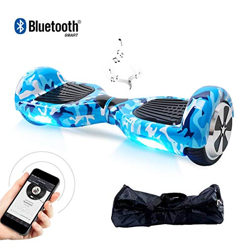 "BEBK Hoverboard, 6.5"" Self Balance Scooter mit 2 * 350W Motor, LED Lights Elektro Scooter (Bluetooth-Army)"