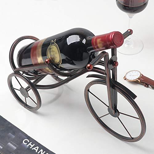 Tianranrt portabottiglie da vino in metallo portabottiglie portaoggetti decorazione della festa nuziale ornamento regalo bw