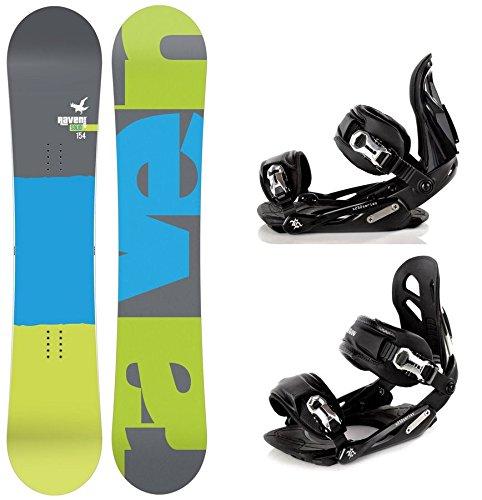 Snowboard Set: Snowboard Raven Solid Carbon + Bindung Raven s250 Black M/L