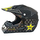 Adult Motocross-Helm MX Motorradhelm ATV Scooter ATV Helm D.O.T zertifizierte Rockstar Multicolor Brillanten-Handschuhe Maske (S, M, L, XL, XXL),XXL62~63cm